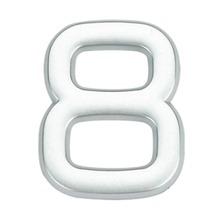 Número para Apartamento Número 8 3,9 cmx1,8 cm Cromado Bemfixa