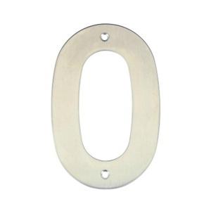 Número para Residência Número 0 14,5 cmx10 cm Inox Bemfixa