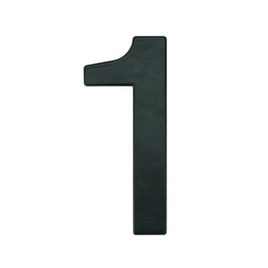 Número para Residência Número 1 14,5 cmx10 cm Cromado Bemfixa