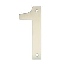 Número para Residência Número 1 14,5 cmx10 cm Inox Bemfixa