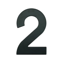 Número para Residência Número 2 14,5 cmx10 cm Cromado Bemfixa