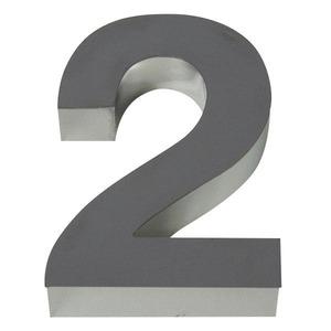 Número para residência Número 2 15 cmx10,4 cm Polido Italy Line