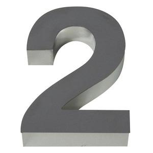 Número para residência Número 2 30 cmx10,4 cm Polido Italy Line