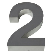 Número para residência Número 2 50 cmx10,4 cm Polido Italy Line