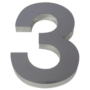 Número para residência Número 3 10 cmx6,4 cm Polido Italy Line