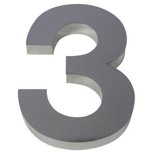 Número para residência Número 3 30 cmx10,6 cm Polido Italy Line