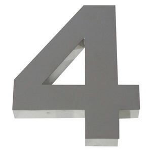 Número para residência Número 4 10 cmx7 cm Polido Italy Line