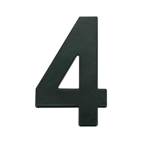 Número para Residência Número 4 14,5 cmx10 cm Cromado Bemfixa