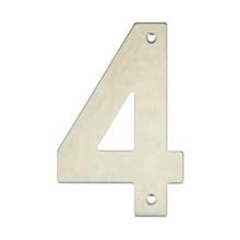 Número para Residência Número 4 14,5 cmx10 cm Inox Bemfixa