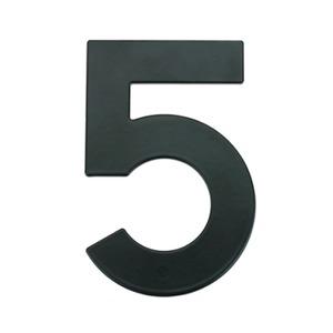 Número para Residência Número 5 14,5 cmx10 cm Cromado Bemfixa