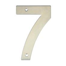 Número para Residência Número 7 14,5 cmx10 cm Inox Bemfixa
