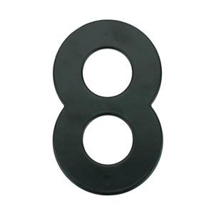Número para Residência Número 8 14,5 cmx10 cm Cromado Bemfixa