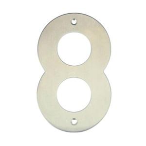 Número para Residência Número 8 14,5 cmx10 cm Inox Bemfixa