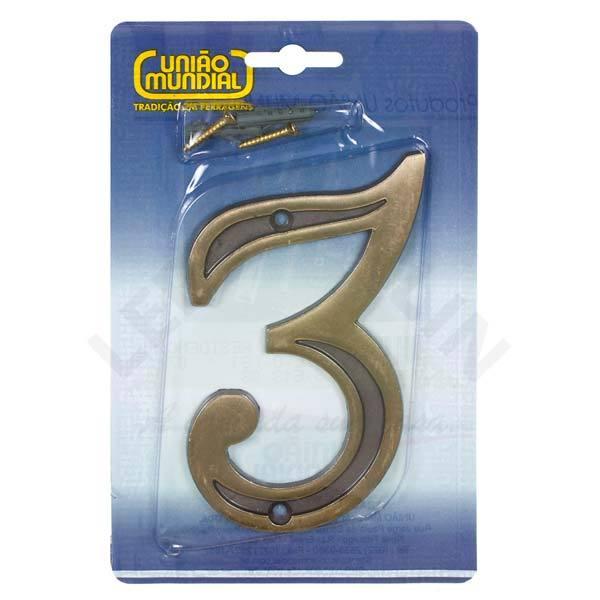 N mero casa 3 13cm parafusar zamac dourado leroy merlin - Numeros para casas leroy merlin ...