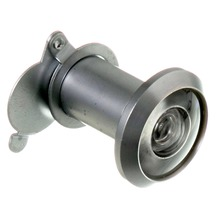Olho Mágico para Porta 25 a 42mm 200º Latão Prata Fosco