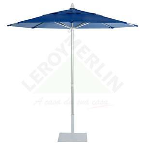 Ombrelone Alumínio/Pvc Redondo mult Lev 2,20M Azul Ecogarden