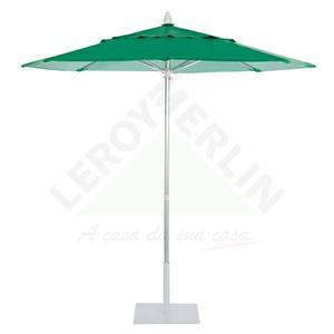 Ombrelone Alumínio/Pvc Redondo mult Lev 2,20M Verde Ecogarden