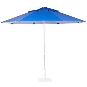 Ombrelone Alumínio/Pvc Redondo mult Lev 2,4m Azul Ecogarden