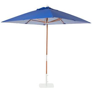 Ombrelone madeira/Pvc Quadrado 2,1x2,1m Azul Ecogarden