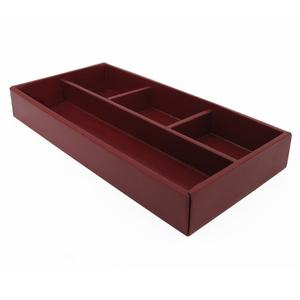Organizador de Gaveta Papelão 0,04x0,3x0,15cm Vermelho