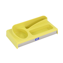 Organizador de Pia 7x24x13cm Plástico Amarelo Neutral