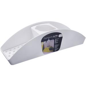 Organizador de Pia Plástico Branco 32x9x8,5cm Brinox