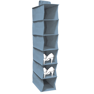 Organizador de Sapatos TNT Azul 94x18x30cm
