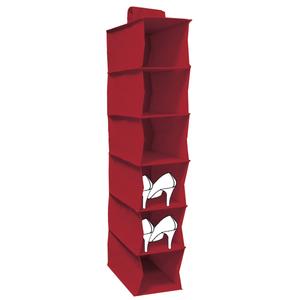 Organizador de Sapatos TNT Vermelho 94x18x30cm