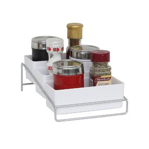 Organizador para Temperos 16x11x24cm Cromado Branco Space Savers Metaltru