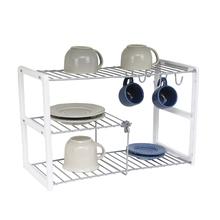 Organizador para Xícaras e Pratos 40,5x25x18cm Cromado Space Savers Metaltru