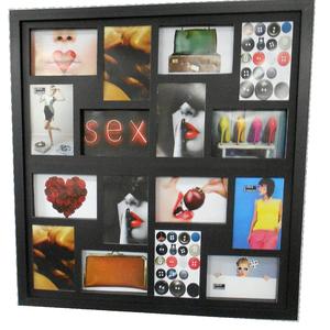 Painel de Fotos Multi Preto 60x60cm