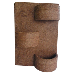 Painel Fibra de Coco 3 Meio Vasos 60x40cm