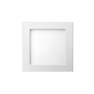 Painel LED de Embutir Quadrado Luz Amarela 17,1x17,1cm Bivolt