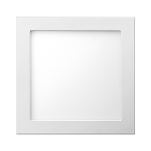 Painel LED de Embutir Quadrado Luz Amarela 40x40cm Bivolt