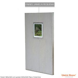 Painél Metalico 1,80x2,60m com Janela 0,60x0,60m Placa Cimentícia QuickHouse