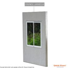 Painél Metalico 1,80x2,60m com Janela 1,20x1,20m Placa Cimentícia Quick House