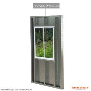 Painél Metalico 1,80x2,60m com Janela 1,20x1,20m Quick House