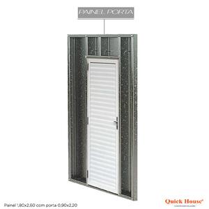 Painél Metalico 1,80x2,60m com Porta 0,90x2,20m Quick House