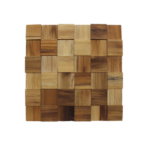 Painel Mosaico Autoadesivo de Madeira Teca 30x30cm NT Wood Line