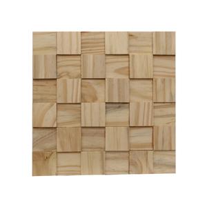 Painel Mosaico de Madeira Pinus 30x30cm NT Wood Line