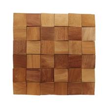 Painel Mosaico de Madeira Garapeira  30x30cm NT Wood Line
