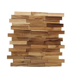 Painel Mosaico de Madeira Teca 30x34cm NT Wood Line