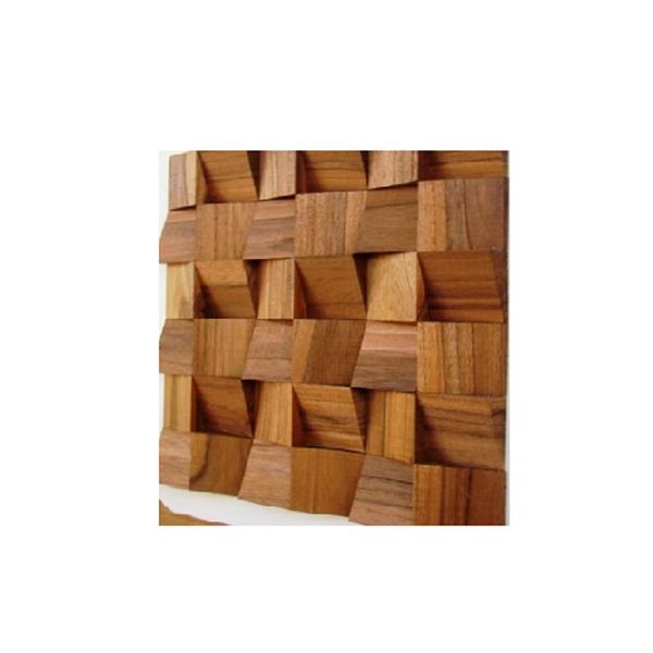 Painel mosaico de madeira teca cunhatetra 30x30cm tw - Mosaico leroy merlin ...