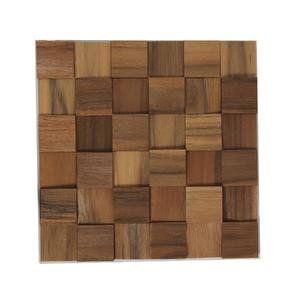 Painel mosaico de madeira teka lascado 30x30cm tw brazil - Mosaico leroy merlin ...