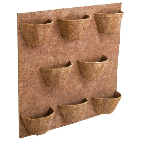 Painel para jardim vertical fibra de coco 8 vasos for Plantas decorativas en leroy merlin