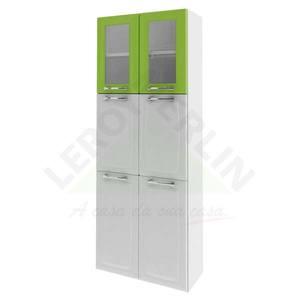 Paneleiro Anita 1,79x0,7x0,28cm Branco e Verde Itatiaia
