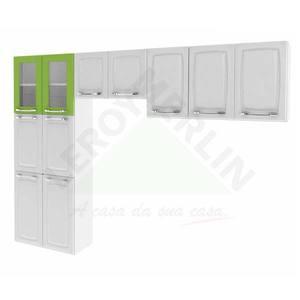 Paneleiro Criativa 1,79x0,7x0,28cm Branco e Verde Itatiaia