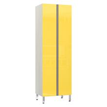 Paneleiro de Cozinha Duplo 220x70x53cm Amarelo  Prime Luciane
