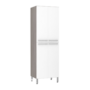 Paneleiro de Cozinha Duplo 220x70x53cm Branco Prime Luciane
