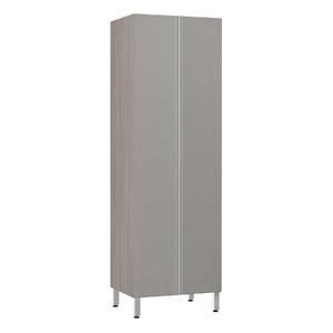 Paneleiro de Cozinha Duplo 220x70x53cm Capuccino Prime Luciane